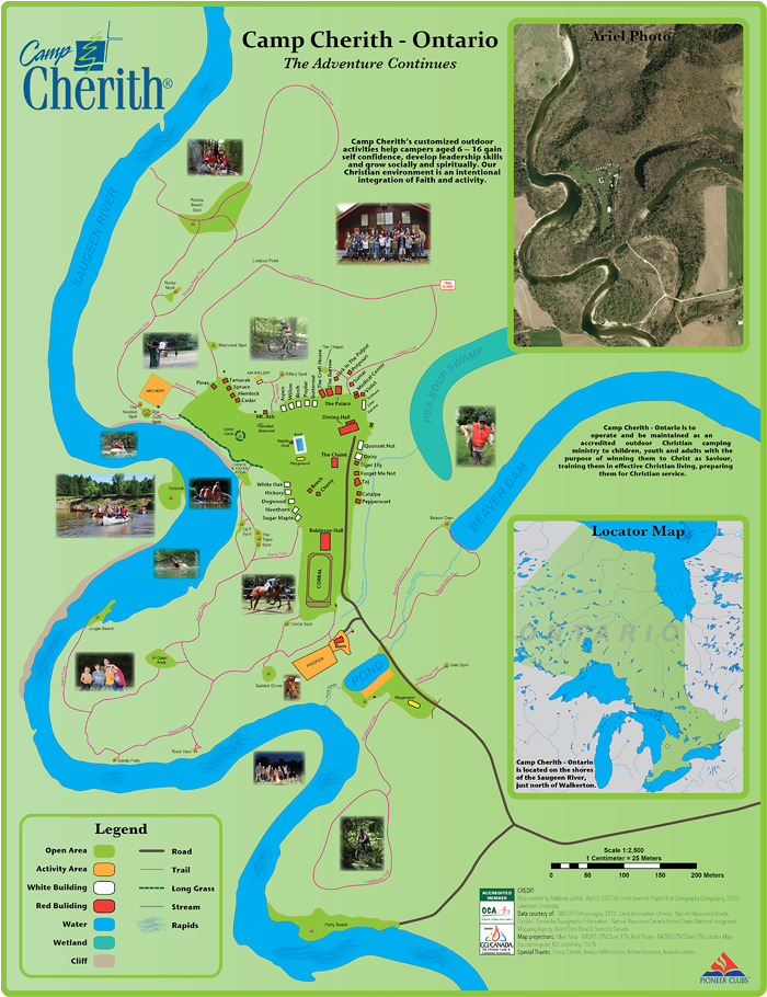 Camp Cherith Map / Poster