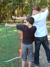 Archery and life skills at Camp Cherith