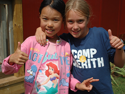 Smiling campers at Camp Cherith